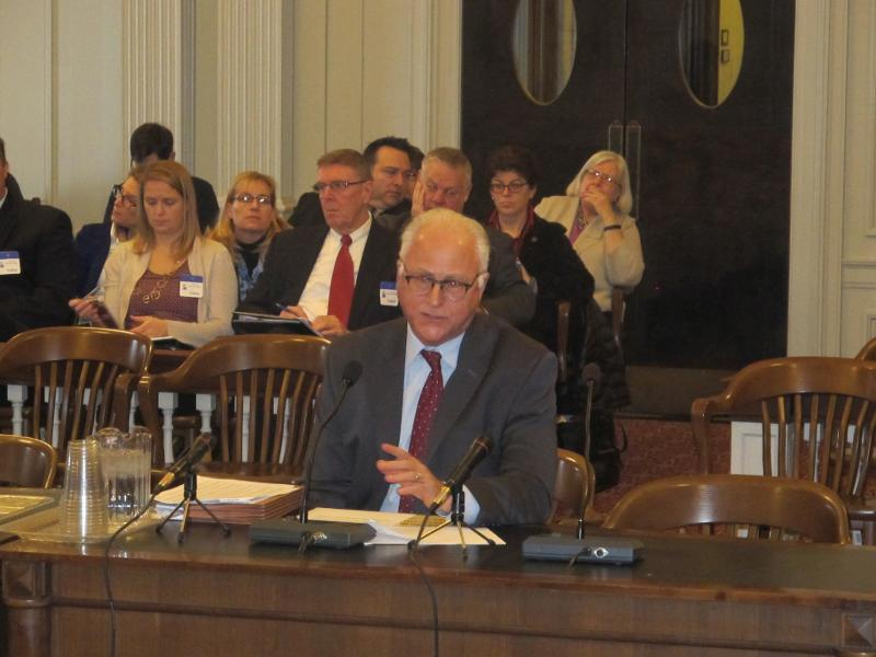 David Sciarra testifies at Assembly Education Committee hearing