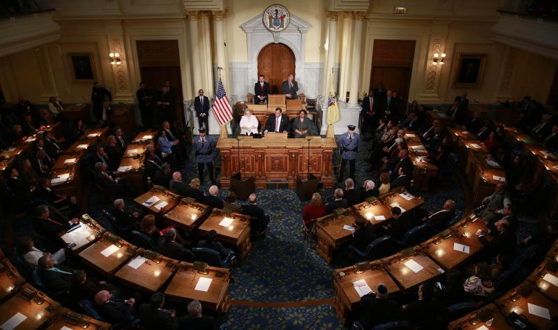 Governor Christie speaks to joint session of NJ legislature