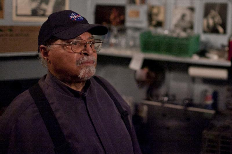 Jimmy Cobb in the kitchen of the Village Vanguard, 2013