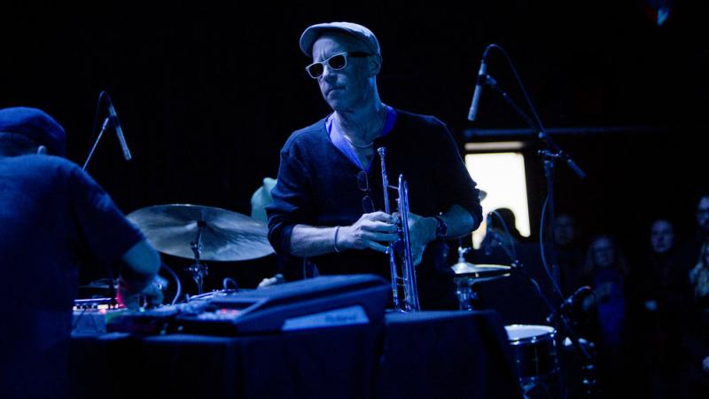 Dave Douglas performs with High Risk, featuring Shigeto, at the 2017 NYC Winter Jazzfest.