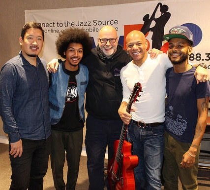 Mark Whitfield and his family band with Gary Walker at WBGO