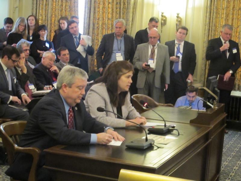 Mike Egenton and Sara Bluhm oppose the legislation.