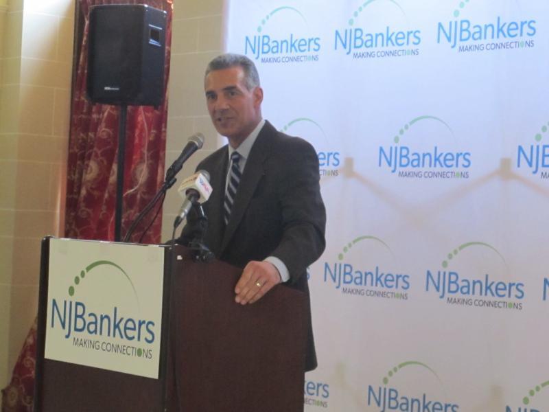 Assemblyman Jack Ciattarelli outlines his plans at  NJ Bankers Association event.
