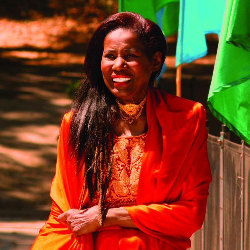 Alice Coltrane Turiyasangitananda at the Sai Anantam Ashram in Agoura Hills, California.