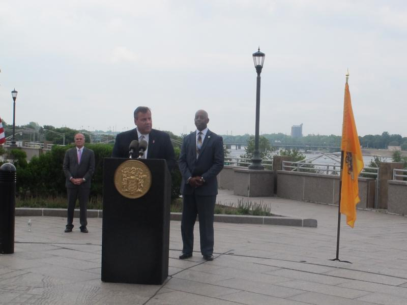 Governor Christie says the project will help revitalize Trenton.
