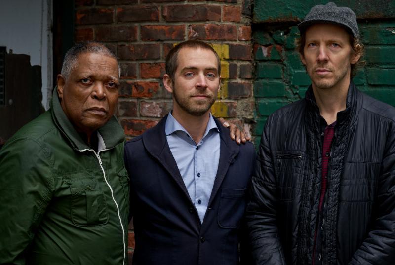 Aaron Parks Trio, left to right: Billy Hart, Aaron Parks, Ben Street