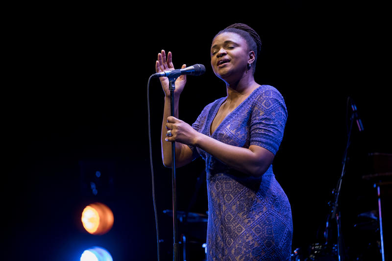 Lizz Wright, recipient of the Prix Ella-Fitzgerald, at the 2017 Montreal Jazz Festival
