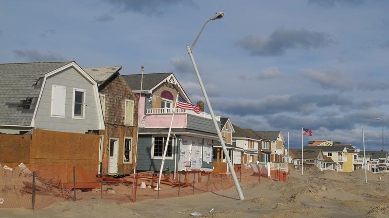 Sandy-damaged homes.