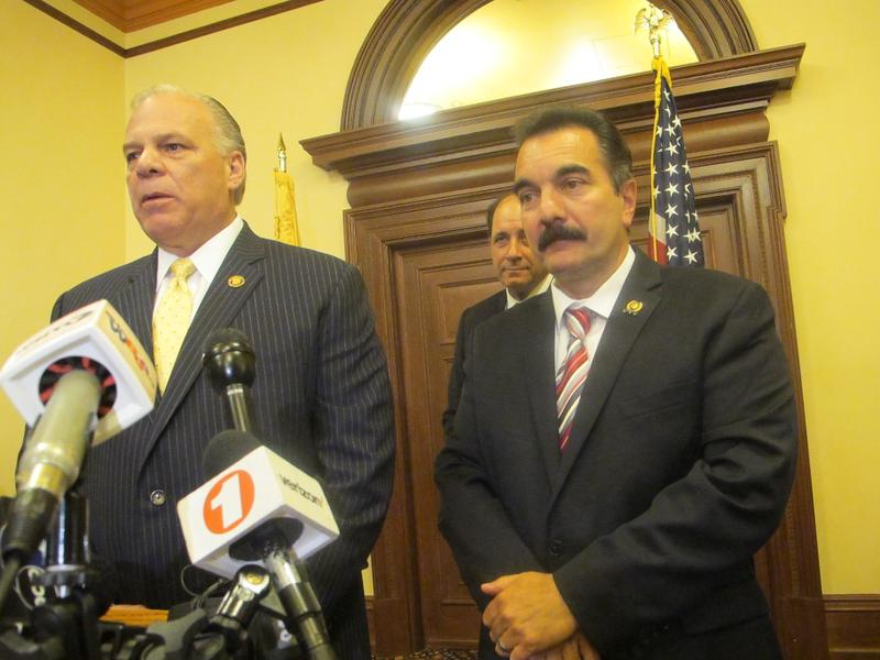 Senate President Sweeney and Assembly Speaker Prieto announce budget agreement that ends government shutdown.