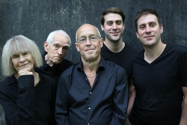 Left to right: Carla Bley, Steve Swallow, Dave Douglas, Chet Doxas, Jim Doxas