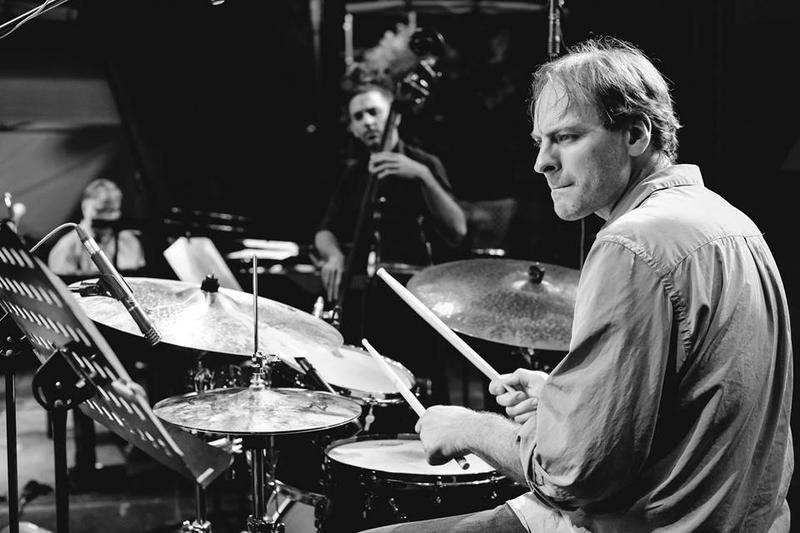 Drummer Ari Hoenig with bassist Or Bareket and Romanian pianist Ion Baciu at the 2017 Bucharest Jazz Fest