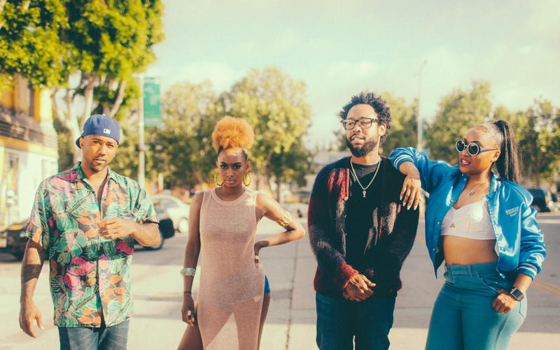 The Pollyseeds: Chachi, Rose Gold, Terrace Martin, Wyann Vaughn.