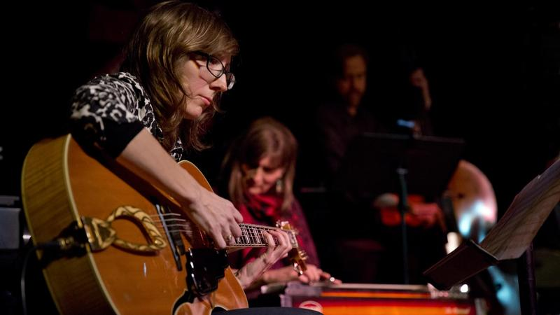 Mary Halvorson in January, at the 2017 NYC Winter Jazzfest.