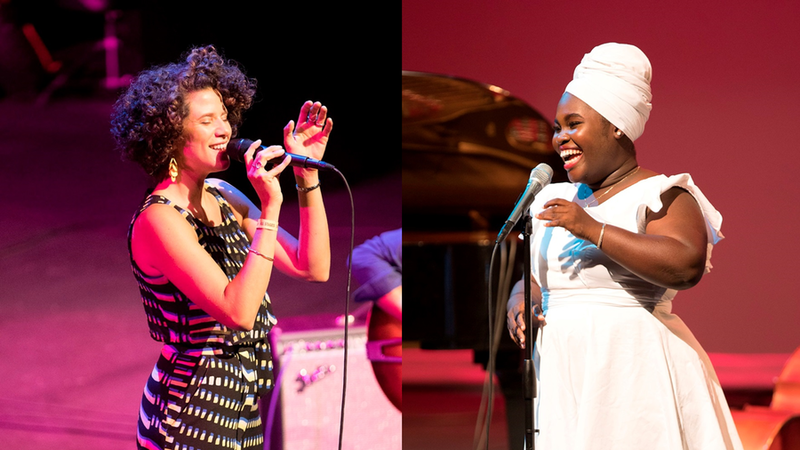 Cyrille Aimée, left, and Daymé Arocena