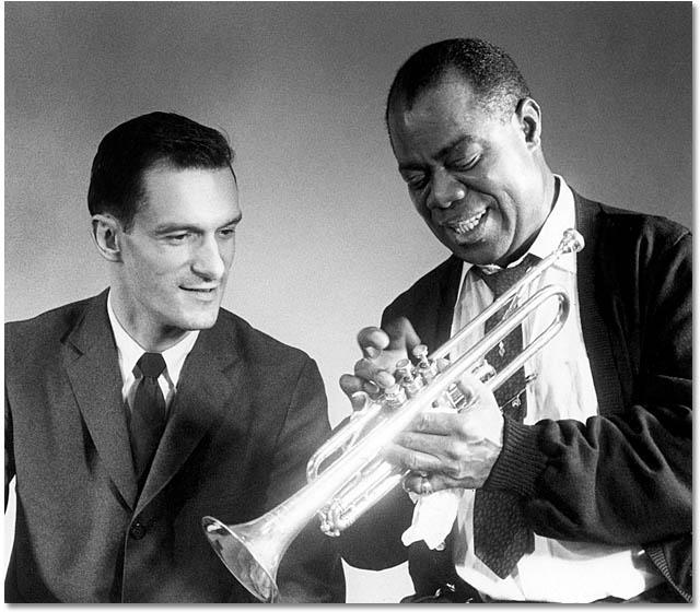 Hugh Hefner with Louis Armstrong