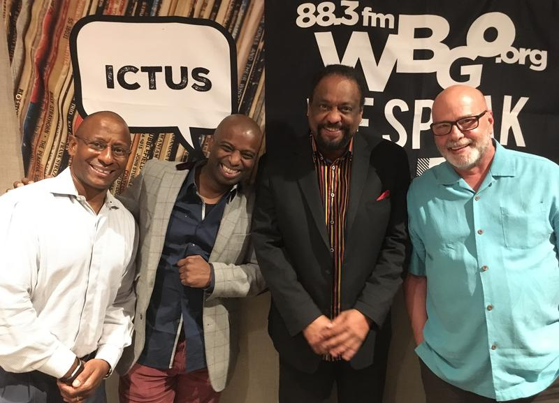 Kenny Davis, Anthony Wonsey, Chico Freeman and WBGO's Gary Walker