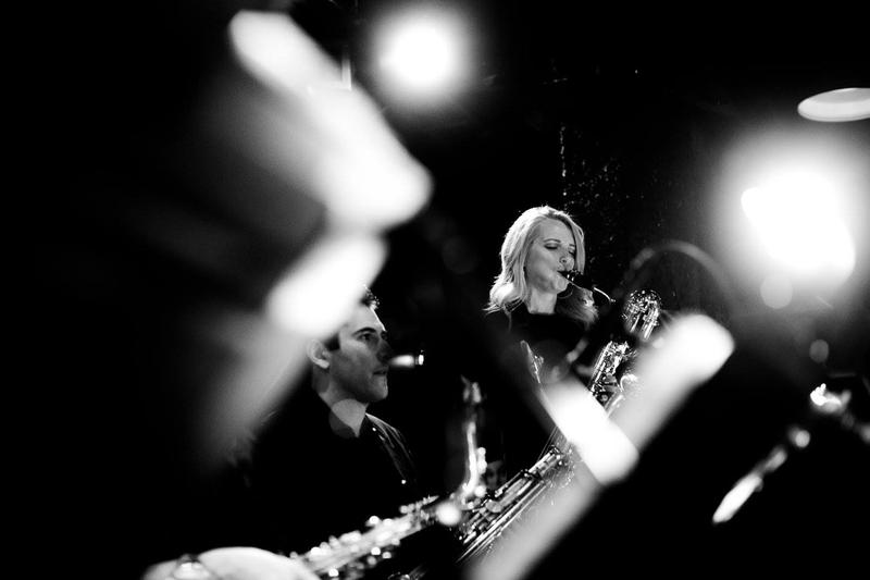 The author performing with the Mingus Big Band at the Jazz Standard, Feb. 2, 2017