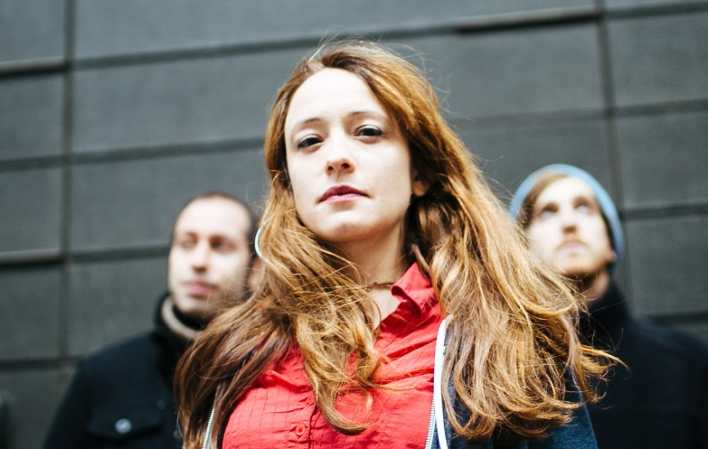 Marta Sanchez, center, flanked by two members of her quintet