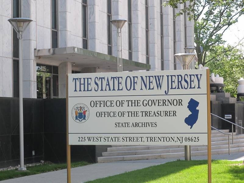 Sign in front of governor's office