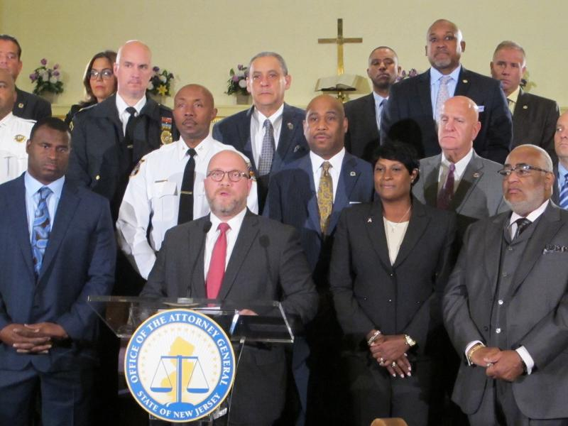 Attorney General Porrino launches the information campaign at Friendship Baptist Church in Trenton