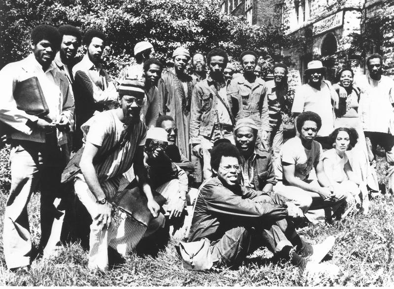 AACM members, circa 1977. (The authors, Adegoke Steve Colson and Iqua Colson, are down front, on the right.)