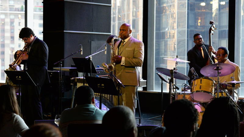 Louis Hayes with his band at Dizzy's Club Coca-Cola,