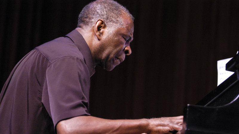 The late pianist and composer Muhal Richard Abrams, performing at Lincoln Center's Alice Tully Hall in New York in 2004.