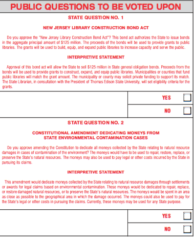 questions on sample ballot