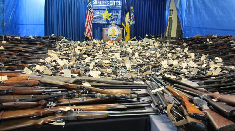 Guns collected at buyback event in Trenton in January 2013