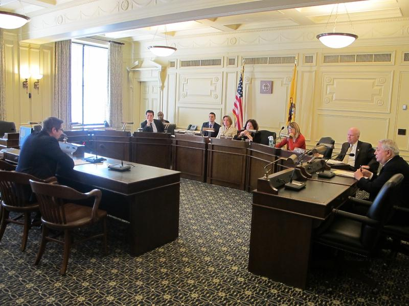 Dan Phillips testifies at Senate Law & Public Safety Committee hearing