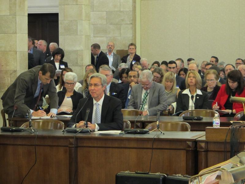 Ralph Izzo testifies at legislative hearing
