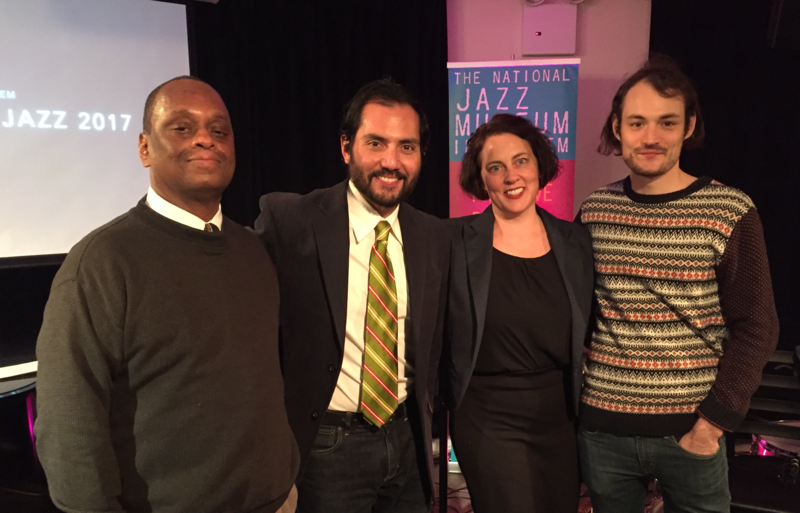 The Year in Jazz panelists: Eugene Holley, Jr., Nate Chinen, Michelle Mercer, Giovanni Russonello