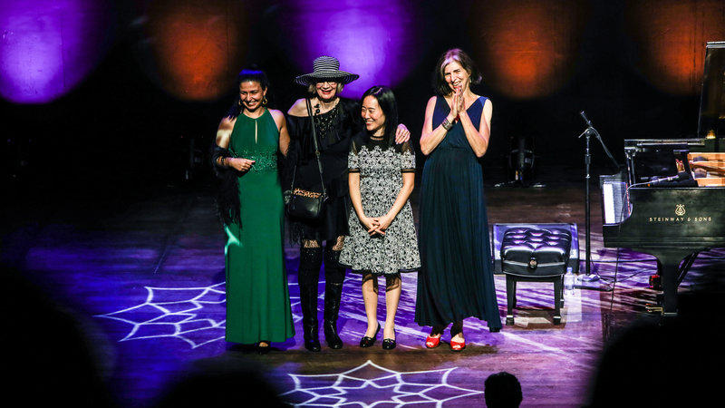 Abelita Mateus, Joanne Brackeen, Helen Sung and Marcia Ball were this year's A Jazz Piano Christmas guests.