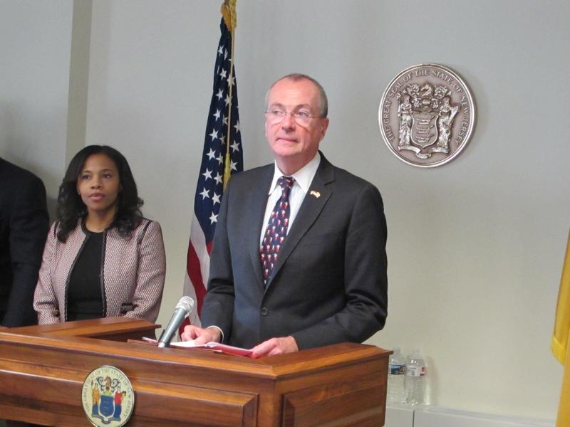 Governor-elect Phil Murphy and Secretary of State nominee Tahesha Way