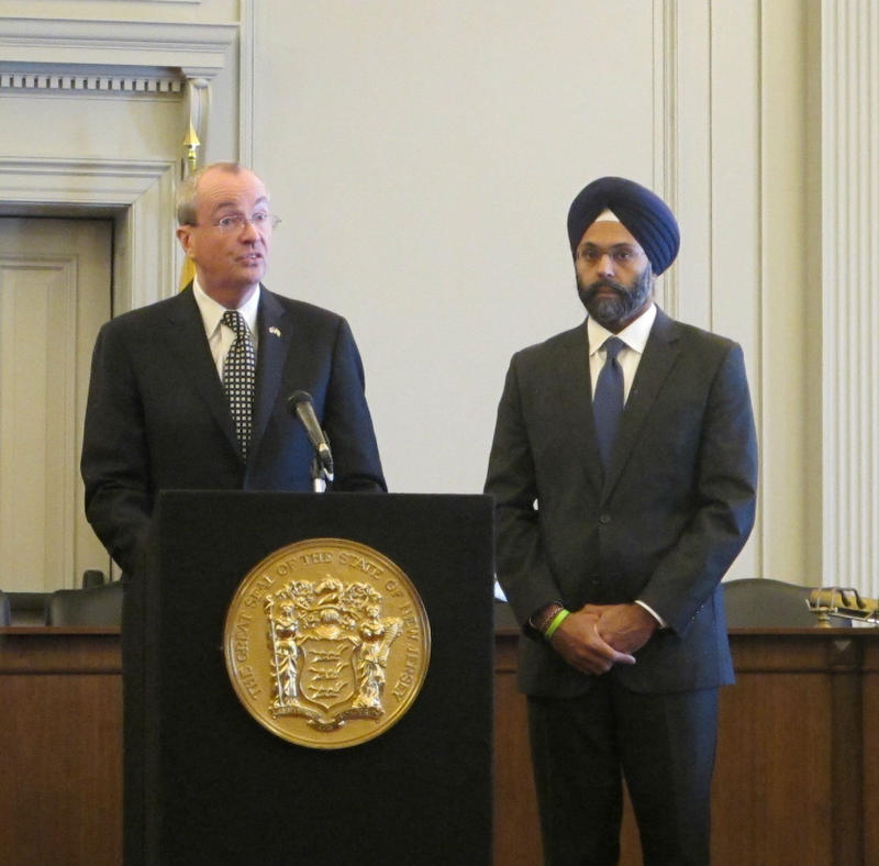 Governor Phil Murphy and Attorney General Gurbir Grewal