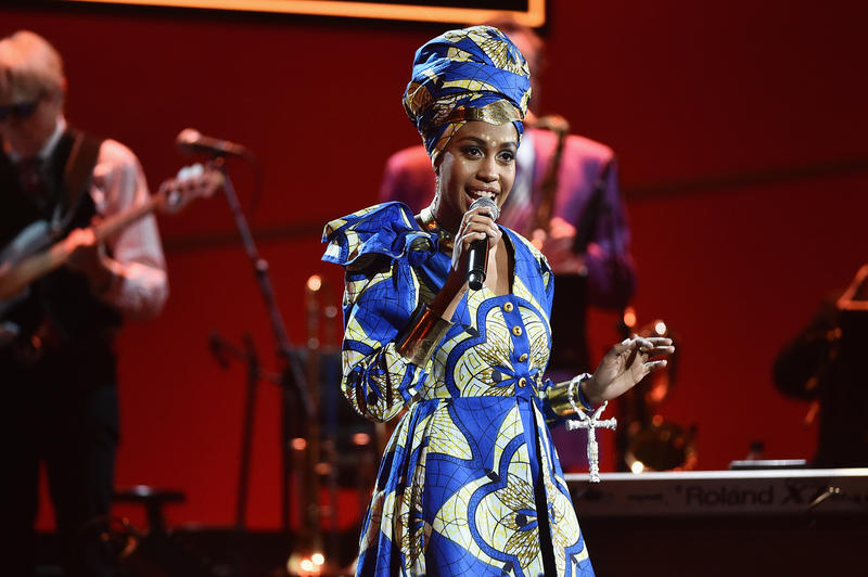 Jazzmeia Horn at the 2018 Grammy Awards