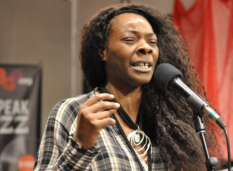 Buika performing with her band at WBGO