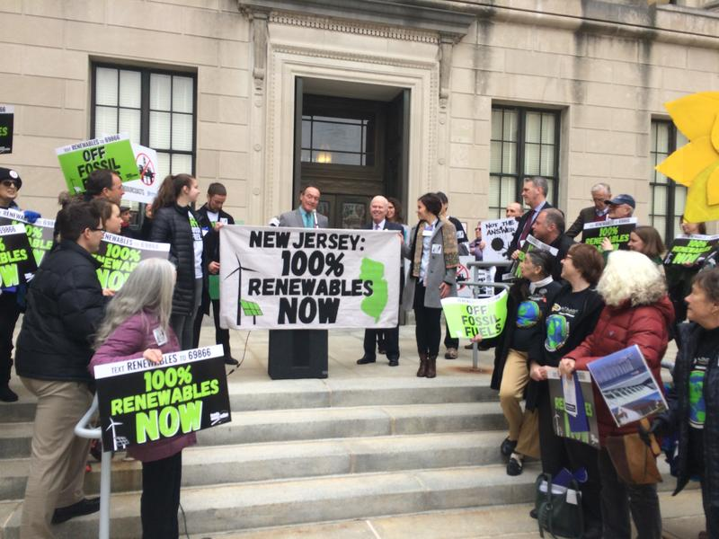 Advocates outside NJ Statehouse favor the faster timetable.