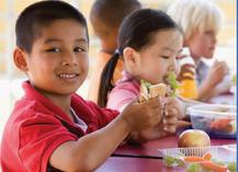 kids eating school breakfast