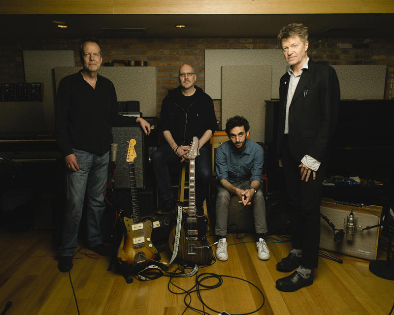 The Nels Cline 4, left to right: Tom Rainey, Scott Colley, Julian Lage and Cline