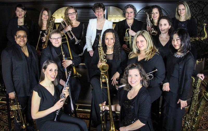The DIVA Jazz Orchestra, led by drummer Sherrie Maricle