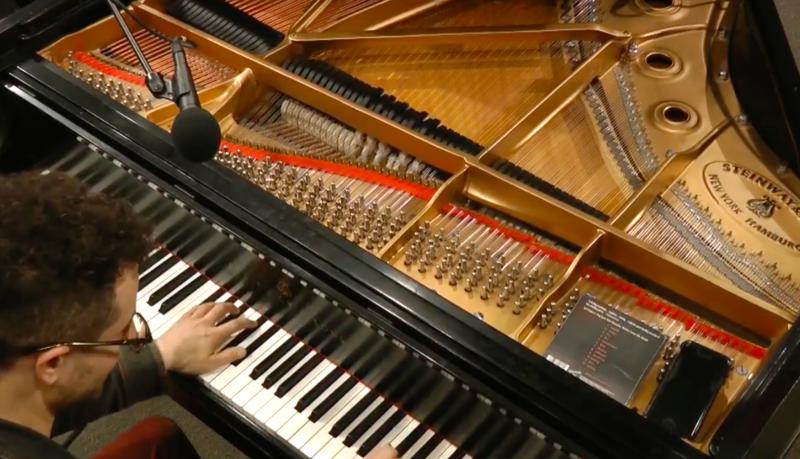 Greg Spero on the Yamaha grand piano in the WBGO performance studio
