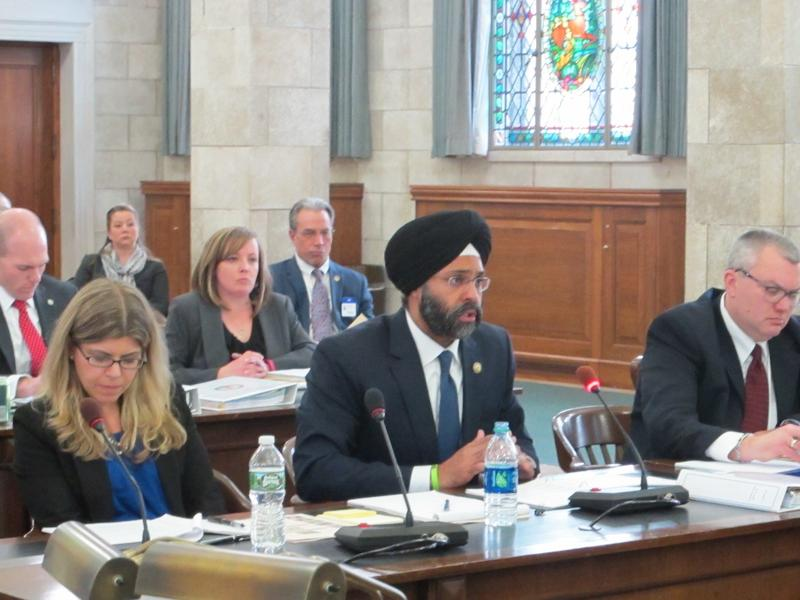 Attorney General Gurbir Grewal testifies at Senate Budget Committee hearing