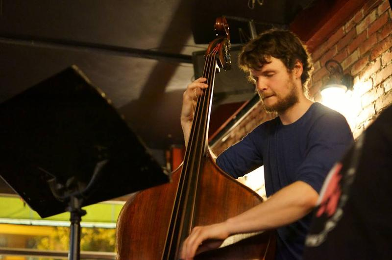Bassist Cole Birney-Stewart, a graduate student at the Schulich School of Music of McGill University