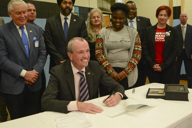 Governor Phil Murphy signs executive order at Asbury Park Middle School