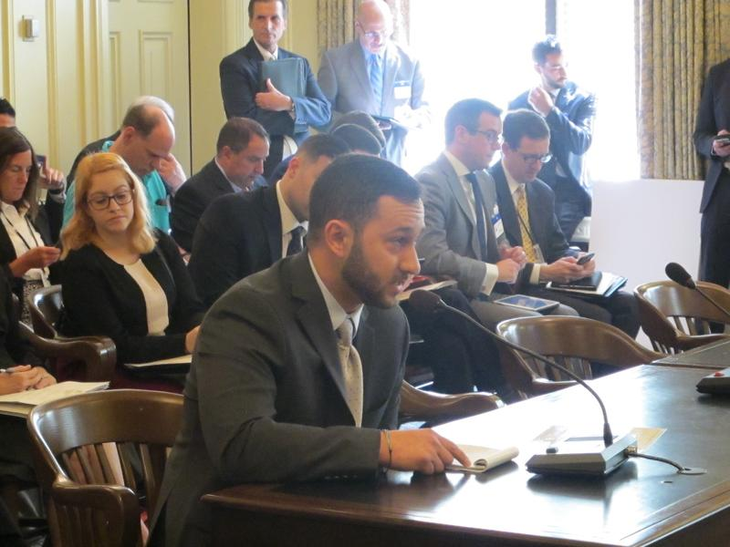Henry Gajda testifies at Senate Environment Committee hearing