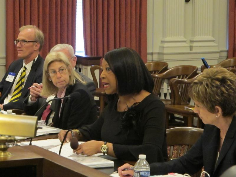 Sheila Oliver testifies as Assembly Budget Committee hearing