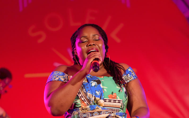 Zara McFarlane performing at the Soleil Summer Festival in St. Lucia