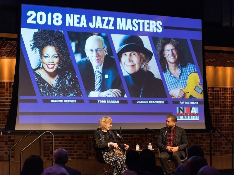 Joanne Brackeen, 2018 NEA Jazz Master, being interviewed by Jason Moran