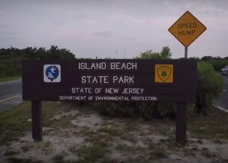 Island Beach State Park entrance